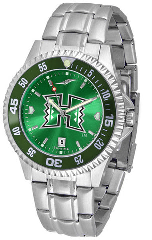 Mens Hawaii Warriors - Competitor Steel AnoChrome Watch - Color Bezel