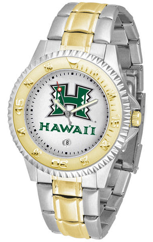 Mens Hawaii Warriors - Competitor Two Tone Watch