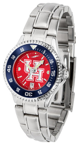 Ladies Houston Cougars - Competitor Steel AnoChrome Watch - Color Bezel