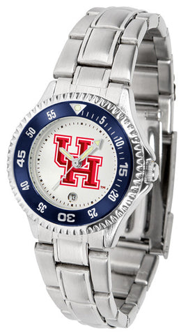 Ladies Houston Cougars - Competitor Steel Watch