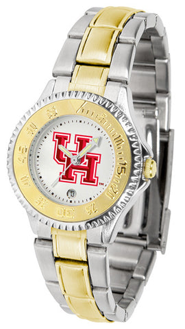 Ladies Houston Cougars - Competitor Two Tone Watch