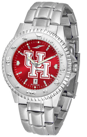 Mens Houston Cougars - Competitor Steel AnoChrome Watch