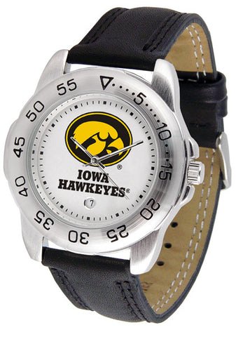 Iowa Hawkeyes Men Sport Watch With Leather Band