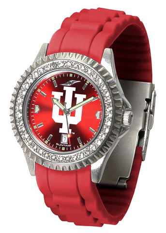 Indiana Hoosiers Sparkle Watch With Color Band