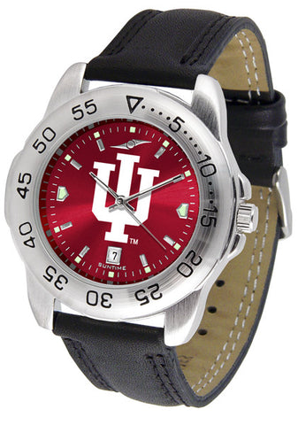 Indiana Hoosiers Men Sport Watch With Leather Band & AnoChrome Dial