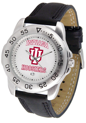 Indiana Hoosiers Men Sport Watch With Leather Band