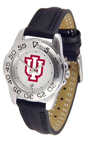 Indiana Hoosiers Ladies Sport Watch With Leather Band