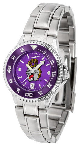Ladies James Madison Dukes - Competitor Steel AnoChrome Watch - Color Bezel