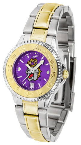 Ladies James Madison Dukes - Competitor Two Tone AnoChrome Watch