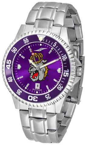 Mens James Madison Dukes - Competitor Steel AnoChrome Watch - Color Bezel