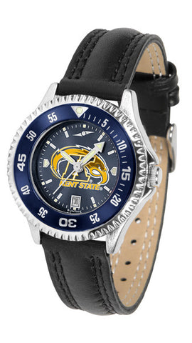 Ladies Kent State Golden Flashes - Competitor AnoChrome Watch - Color Bezel