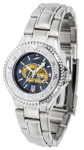 Ladies Kent State Golden Flashes - Competitor Steel AnoChrome Watch