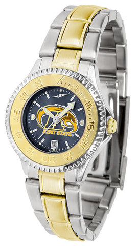 Ladies Kent State Golden Flashes - Competitor Two Tone AnoChrome Watch