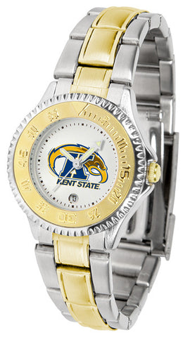 Ladies Kent State Golden Flashes - Competitor Two Tone Watch