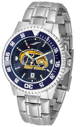 Mens Kent State Golden Flashes - Competitor Steel AnoChrome Watch - Color Bezel