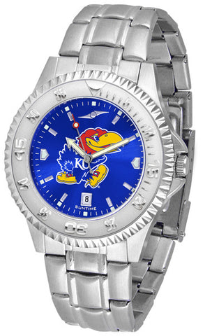 Kansas Jayhawks Men's Competitor Steel Watch With AnoChome Dial