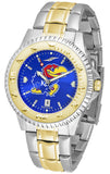 Kansas Jayhawk Men Or Ladies Competitor Two-Tone Watch With Anochrome Dial