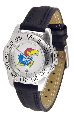 Kansas Jayhawks Ladies Sport Watch With Leather Band