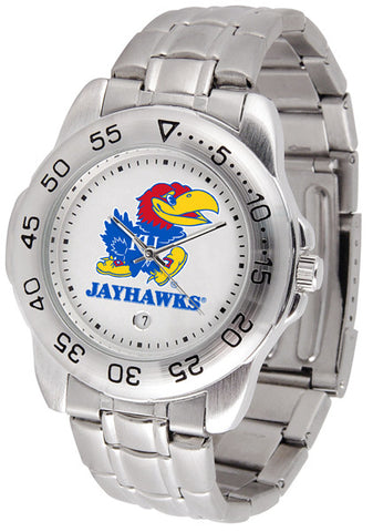 Kansas Jayhawks Men Sport Steel Watch