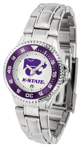 Kansas State Wildcats Competitor Steel Ladies Watch