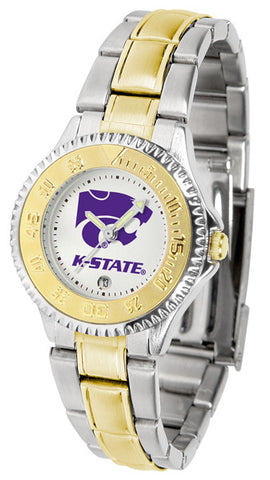 Kansas State Wildcats Ladies Competitor Two-Tone Watch