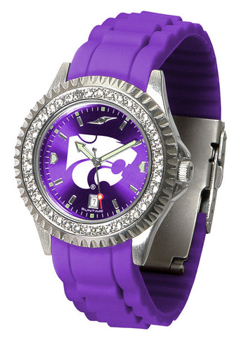 Kansas State Wildcats Sparkle Watch With Color Band