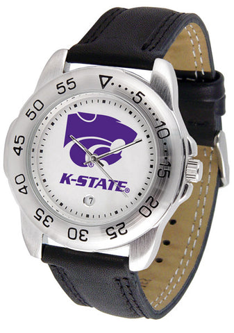 Kansas State Wildcats Men Sport Watch With Leather Band