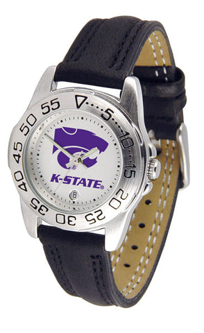 Kansas State Wildcats Ladies Sport Watch With Leather Band