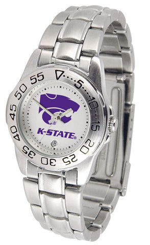 Kansas State Wildcats Ladies Sport Steel Watch