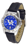 Kentucky Wildcats Men Or Ladies Sport Watch With Leather Band, AnoChrome Dial