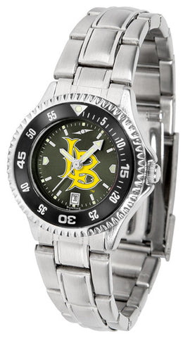 Ladies Long Beach State 49ers - Competitor Steel AnoChrome Watch - Color Bezel