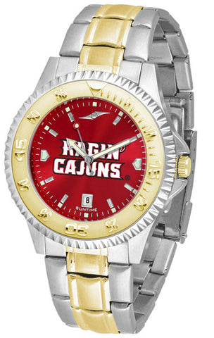 Mens Louisiana Ragin' Cajuns - Competitor Two Tone AnoChrome Watch
