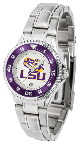 LSU Tigers Competitor Steel Ladies Watch