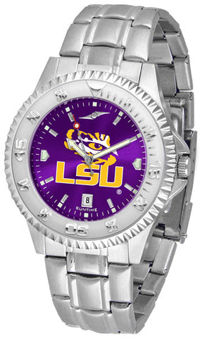LSU Tigers Men's Competitor Steel Watch With AnoChome Dial