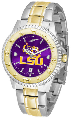 LSU Tigers Mens Competitor Two-Tone Watch With Anochrome Dial