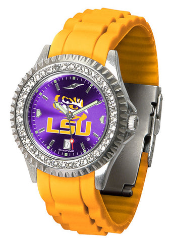 LSU Tigers Sparkle Watch With Color Band
