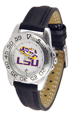 LSU Tigers Ladies Sport Watch With Leather Band