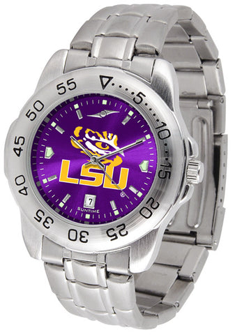 LSU Tigers Men Sport Steel Watch With AnoChrome Dial