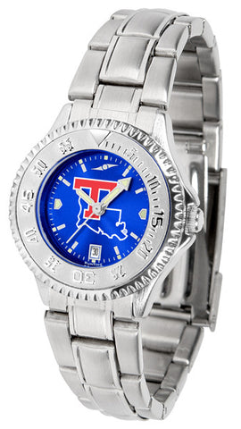 Ladies Louisiana Tech Bulldogs - Competitor Steel AnoChrome Watch