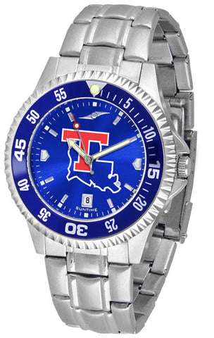 Mens Louisiana Tech Bulldogs - Competitor Steel AnoChrome Watch - Color Bezel