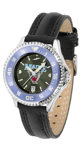 Ladies Maine Black Bears - Competitor AnoChrome Watch - Color Bezel