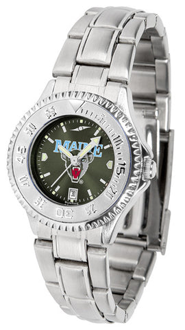 Ladies Maine Black Bears - Competitor Steel AnoChrome Watch
