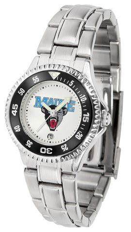 Ladies Maine Black Bears - Competitor Steel Watch