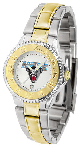 Ladies Maine Black Bears - Competitor Two Tone Watch