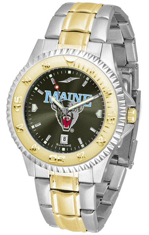 Mens Maine Black Bears - Competitor Two Tone AnoChrome Watch