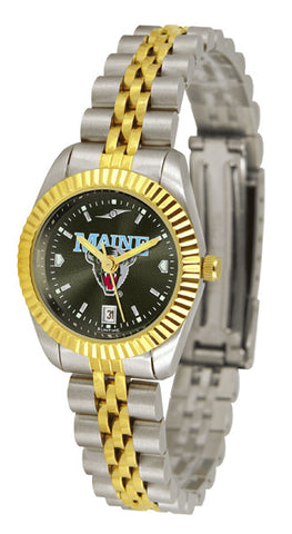 Ladies Maine Black Bears - Executive AnoChrome Watch