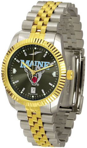 Mens Maine Black Bears - Executive AnoChrome Watch