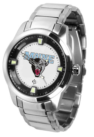 Mens Maine Black Bears - Titan Steel Watch