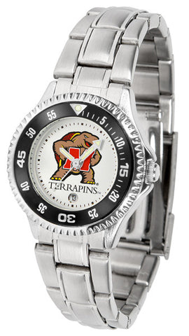 Maryland Terrapins Competitor Steel Ladies Watch