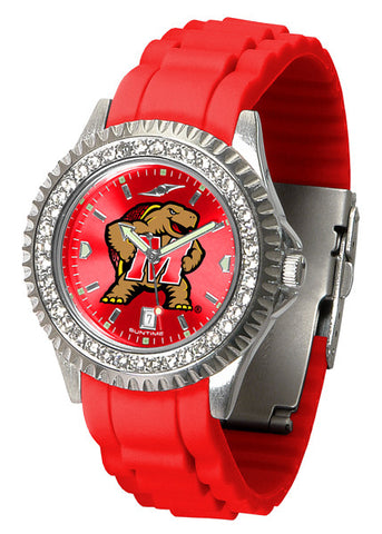 Maryland Terrapins Sparkle Watch With Color Band